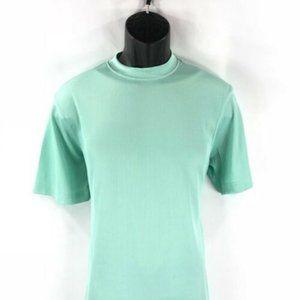 LOG-IN UOMO Men's See Green T-Shirt Ribbed Pattern